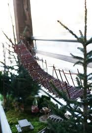 swinging bridge in the fairy garden