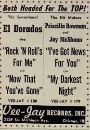 45cat - Priscilla Bowman And Jay McShann - I've Got News For You / My  Darkest Night - Vee Jay - USA - VJ 179