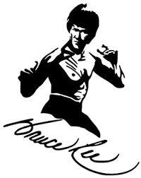 Hitada 11 1cmx13 9cm Vinyl Decal Kung Fu Actor Bruce Lee Car Sticker Black Silver Amazon Com