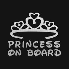 Princess On Board Stickers Baby Girl Name Customize Car Styling Stickers 17 14cm Car Stickers And Decals 0386 Princess On Board Car Stickercar Stickers And Decals Aliexpress