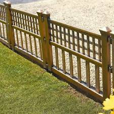 Pack Of 4 Bronze Plastic Fence Panels Garden Lawn Edging Plant Border Landscape Ebay