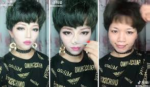 these asian women removing makeup will
