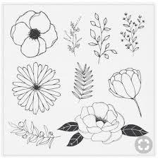 pflanzen hand drawn flowers wreath