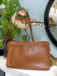 coach vintage brown leather bag made in