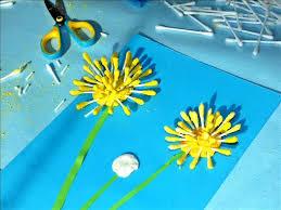 Blondynki kreatywnie - Kwiaty Mniszka lekarskiego z patyczków ...