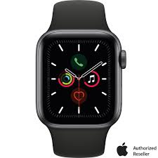Apple Watch Series 5 Gps + Cellular Space Gray Aluminum Case With Black  Sport Band   Apple Watches   Electronics