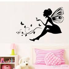 Girls Room Wall Decals Vinyl Self Adhesive Flower Fairy Wall Sticker Murals Kids Wall Art Home Decor Wall Art Tree Decal Wall Art Tree Stickers From Jy9146 4 03 Dhgate Com