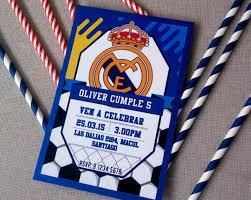 Invitaciones Para Cumpleanos Real Madrid Cotillon 4 500 En