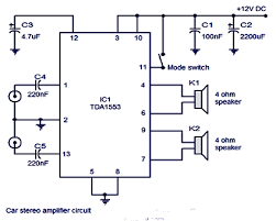 stereo audio power lifier circuit