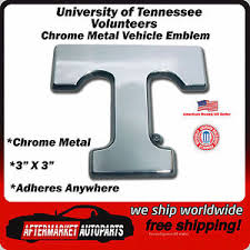 University Of Tennessee Volunteers Chrome Metal Car Auto Emblem Decal Ships Fast Ebay