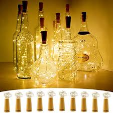 cylapex 10 pack wine bottle lights with