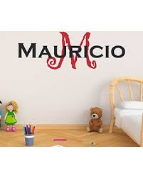 Don T Miss Sales On Boy S Custom Name And Initial Wall Decal Choose Your Own Name Initial And Letter Styles Multiple Sizes Nursery Wall Decal For Baby Room Decorations Vinyl Wall Stickers For