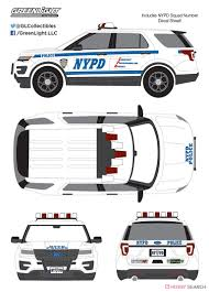 2016 Ford Interceptor Utility New York City Police Dept With Nypd Squad Number Decal Sheet Diecast Car Hi Res Image List