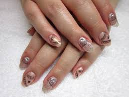 day 21 cascading lace nail art