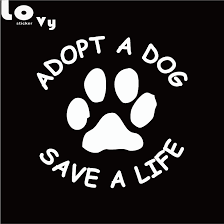 Adopt A Dog Save A Life Streetbadge