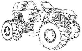 Monster Truck Kleurplaten Monster Trucks Tieners