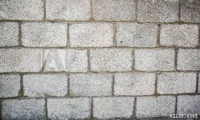 brick slag block wall fence for