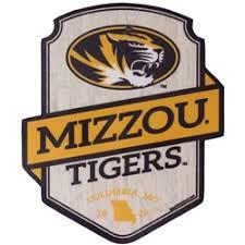 The Mizzou Store Mizzou Tigers Woodgrain Black Gold Sticker