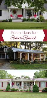 ranch home porches add appeal and fort