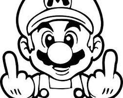 Black And White Mario Logo Logodix