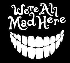 Alice In Wonderland We Re All Mad Here Vinyl Decal Sticker Car Truck Window Ebay