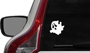 Amazon Com Cute Spooky Ghost Version 1 Car Vinyl Sticker Decal Bumper Sticker For Auto Cars Trucks Windshield Custom Walls Windows Ipad Macbook Laptop And More White Automotive