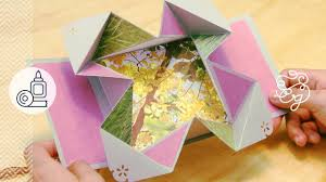 Tarjeta Fold Out Scrap Origami Regalo Scrapbook Crafts