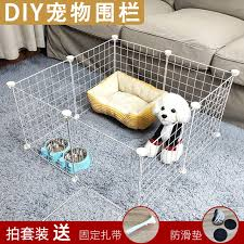 Diy Pet Fence Interior Dog Fence Isolation Door Defersion Network Cat Cage Villa Free Combination Small Pet Cage