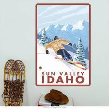 Sun Valley Idaho Skiing Wall Decal At Retro Planet