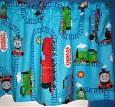 Baby Blue Thomas The Tank Engine Train Window Valance Choo Etsy Thomas The Tank Engine Fabric Bolts Thomas And Friends