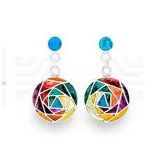 andean flower earrings intika