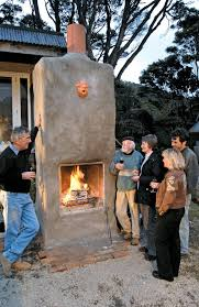 build an outdoor fireplace the shed