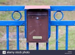 Old Mailbox On Fence High Resolution Stock Photography And Images Alamy