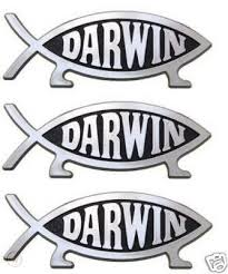 3 Pack Darwin Evolution Fish Car Emblem Evolved Leg 103258502