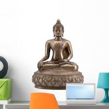 Lord Buddha Wall Decal Wallmonkeys Com