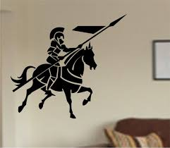 Medieval Knight Warrior With Horse Vinyl Wall Decal Sticker Etsy Horse Wall Decals Vinyl Wall Decals Horse Wall Stickers