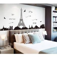 Paris Eiffel Tower Wall Decal Vinyl Personalized Decor Stickers Design Large Art White Removable Vamosrayos