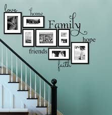Love Home Family Hope Friends Faith Family Quote Wall Quote Vinyl Wall Decal Stickers Family Room Walls Family Wall Decals Family Wall