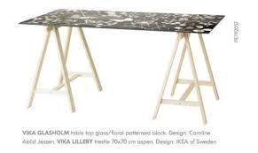 glass table top and legs vika glasholm