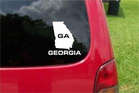 Georgia Ga State Usa Outline Map Sticker Decal 20 Colors To Choose Fro Customvinyldecals