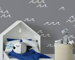 Wave Wall Decal Etsy