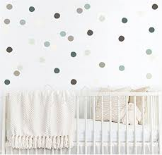Amazon Com Polka Dot Cling Modern Nursery Wall Decal Nursery Vinyl Decals Polka Dots Decals Teal Cream Brown Polka Dot Stickers Kids Wall Decal Handmade
