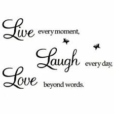 Coleey Live Every Moment Laugh Every Day Love Beyond Words Wall Sticker Motivational Wall Decals Family Inspirational Wall Stickers Qu