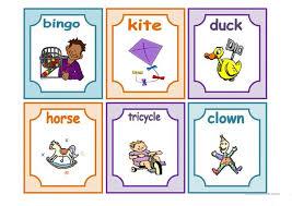 toys flashcards english esl