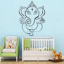 Elephant Wall Stickers Kids Room Vinyl Decal Hindu Ganesha God Home Decoration India Religion Mural Holy O59 Wall Stickers Aliexpress
