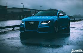 audi s5 reiger blue modified cars coupe