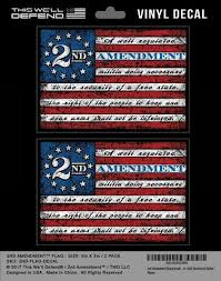 2nd Amendment Flag Sticker Decal Vinyl 2 Pack 5 X 3 5 2ndamendment Com