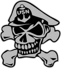 U S Navy Chief Skull Cross Bones 3 Mil Vinyl Sticker For Car Or Truck Window Ebay
