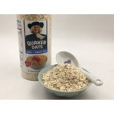 Yến mạch cán vỡ hiệu Quaker Oats của Mỹ cho bé ăn dặm. Khối lượng hộp 454G  .