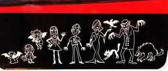 Vampire Family Vinyl Car Stickers Whozitz And Whatzitz Unique Gifts And Cards